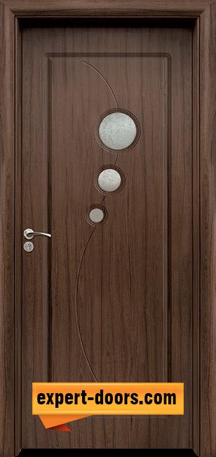 Интериорна врата модел 017, цвят Златен дъб