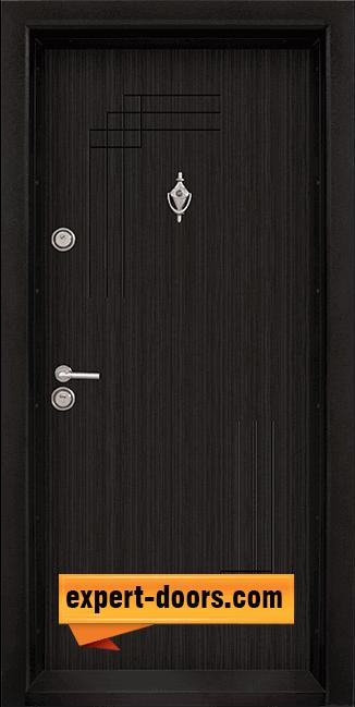 Блиндирана входна врата модел T-111, панел Черна перла
